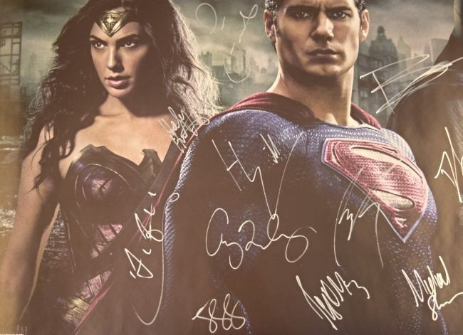 Batman VS Superman Cast Signed Movie Poster - 2