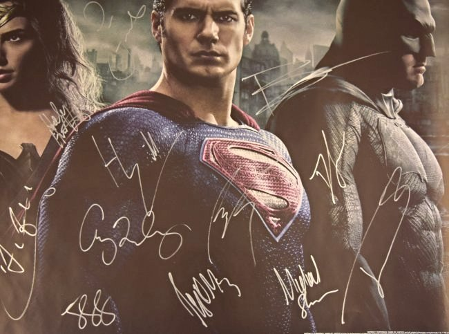 Batman VS Superman Cast Signed Movie Poster - 3