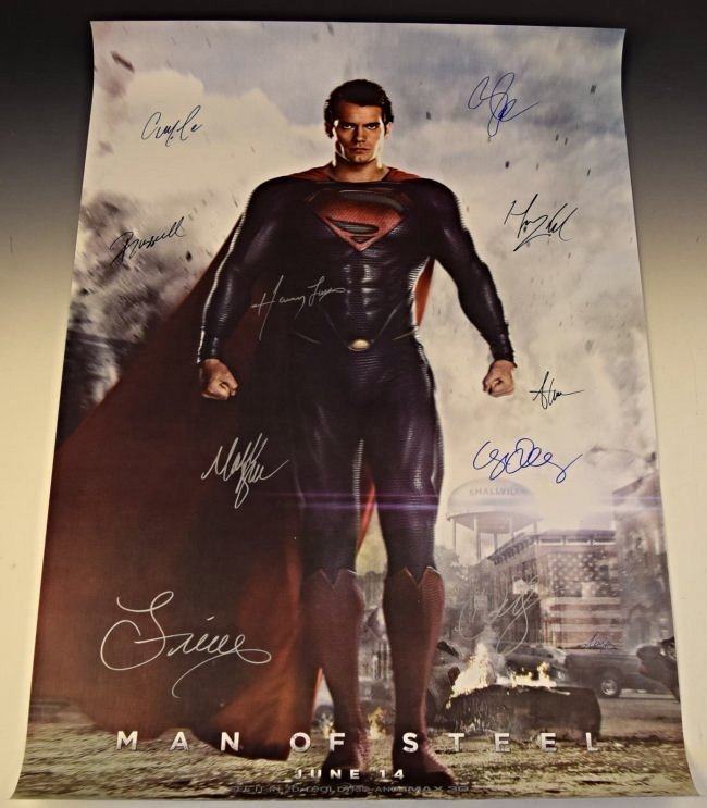 Man of Steel Cast Signed Movie Poster