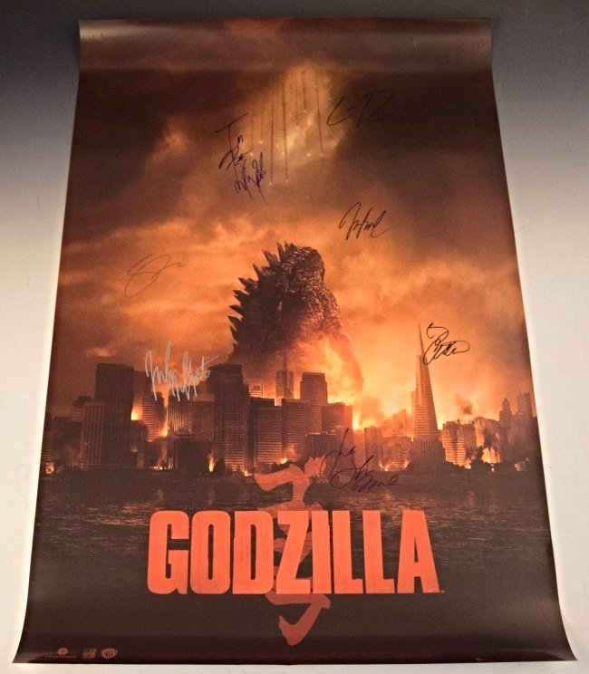 Godzilla Cast Signed Movie Poster