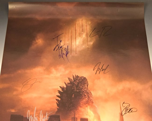 Godzilla Cast Signed Movie Poster - 2