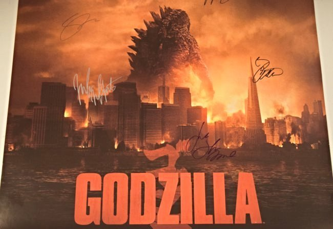 Godzilla Cast Signed Movie Poster - 3