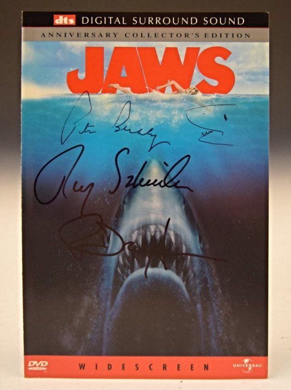 Jaws Cast Signed DVD Insert