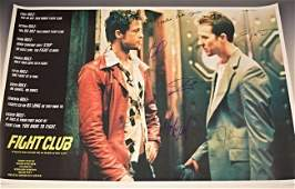 Fight Club Cast Signed Movie Poster
