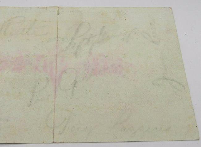 1930 Yankees Signed Postcard - 3