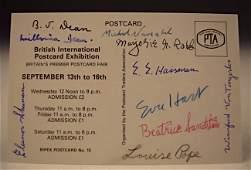 10 Signed Titanic Survivors Postcard