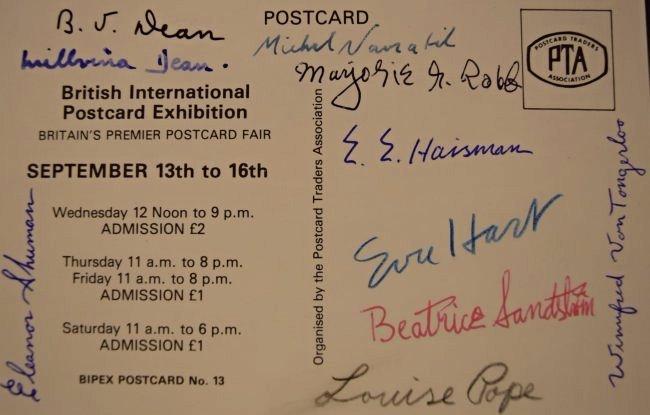 10 Signed Titanic Survivors Postcard - 2