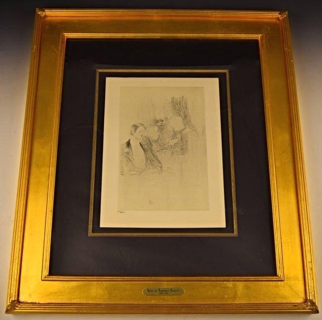 Vintage Toulouse-Lautrec Lithograph