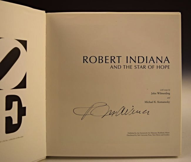 Robert Indiana HOPE Signed Book - 2