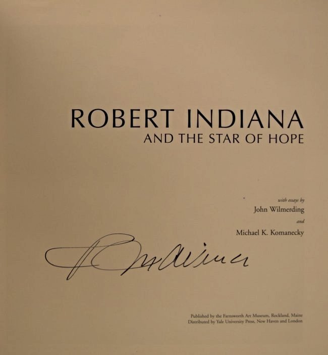 Robert Indiana HOPE Signed Book - 3