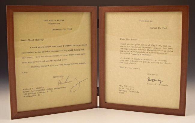 John F. Kennedy, Robert F. Kennedy Signed Letters