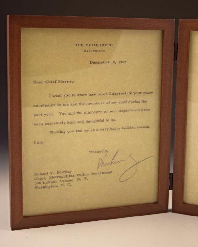 John F. Kennedy, Robert F. Kennedy Signed Letters - 2