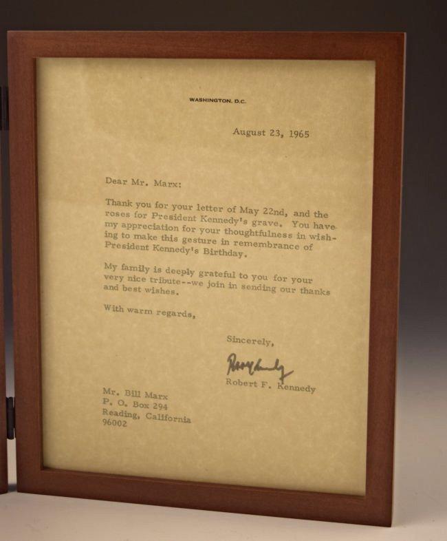 John F. Kennedy, Robert F. Kennedy Signed Letters - 3