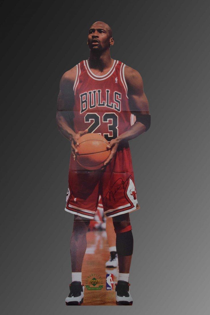 Michael Jordan Signed Full Sized Cutout