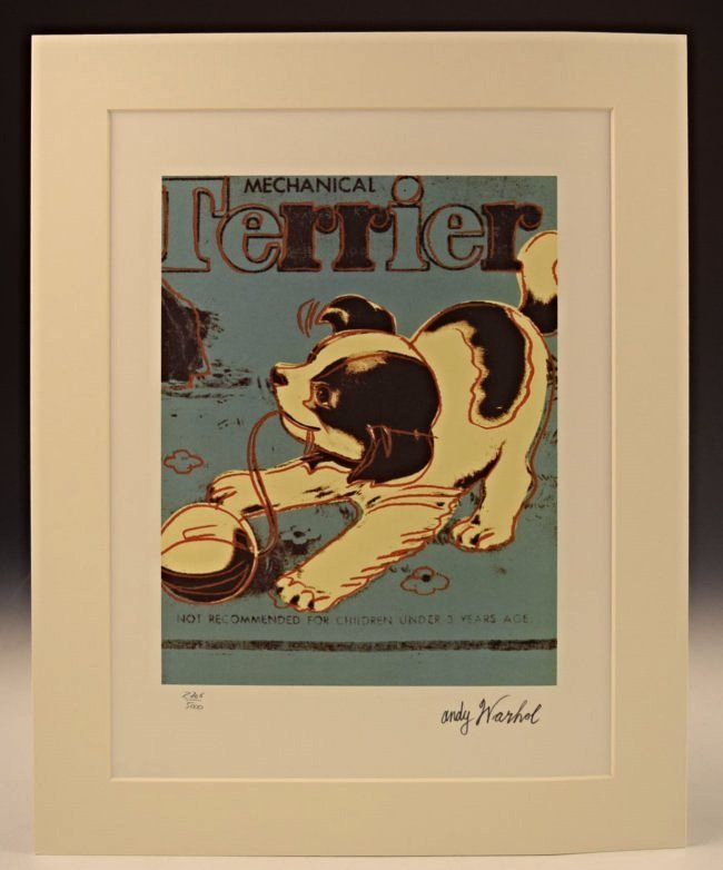Andy Warhol Terrier Lithograph