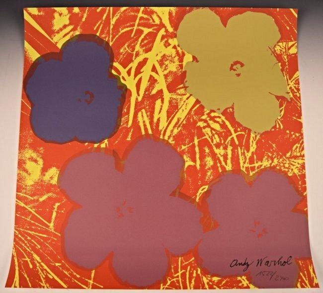 Andy Warhol Flowers Numbered Screenprint