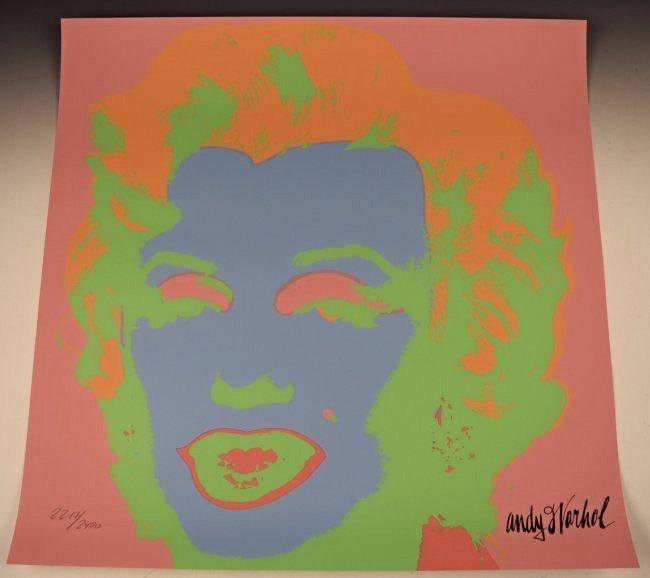 Andy Warhol Marilyn Numbered Screenprint