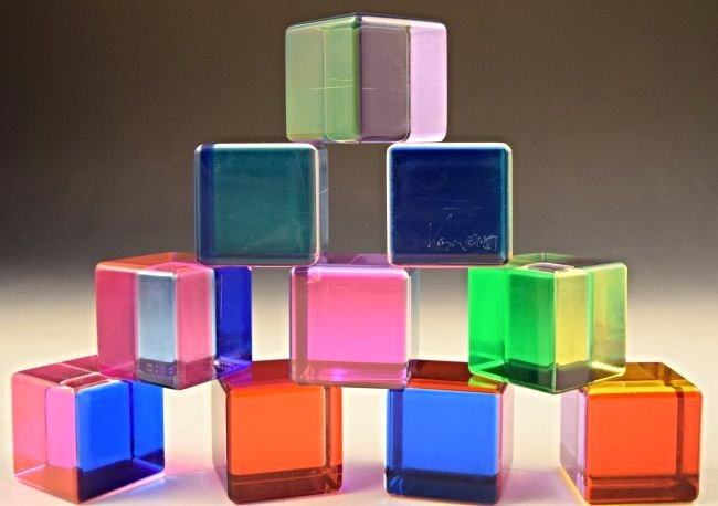 Grouping of Vasa Mihich Acrylic Sculptures