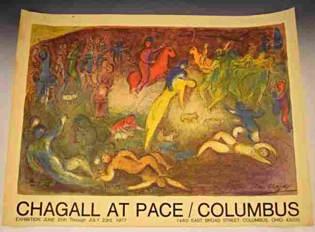1977 Marc Chagall Signed Exhibition Poster