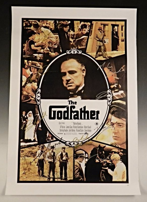 The Godfather Cast Signed Movie Poster