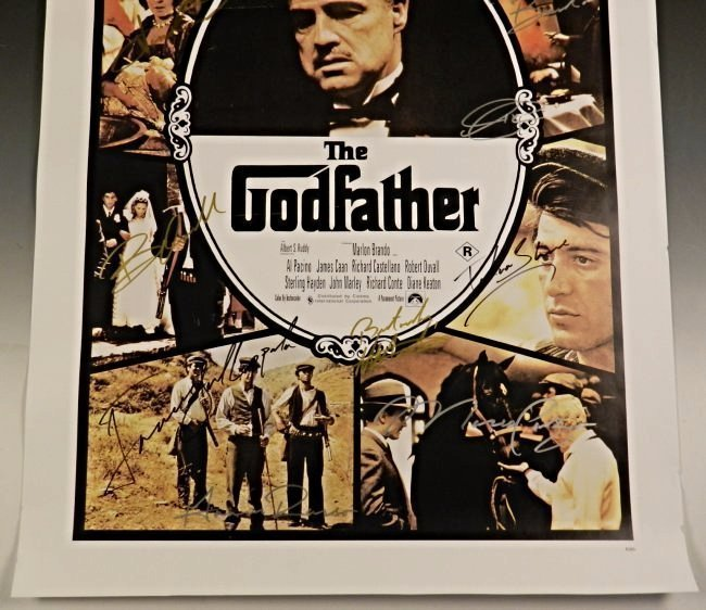 The Godfather Cast Signed Movie Poster - 2