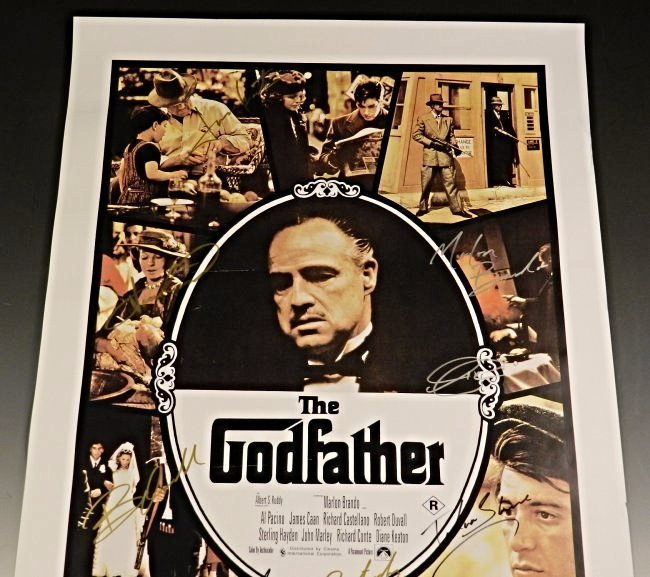 The Godfather Cast Signed Movie Poster - 3