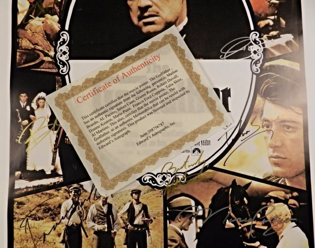 The Godfather Cast Signed Movie Poster - 5