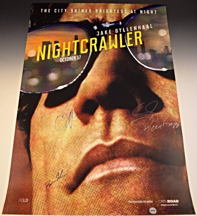 Nightcrawler Cast Signed Movie Poster