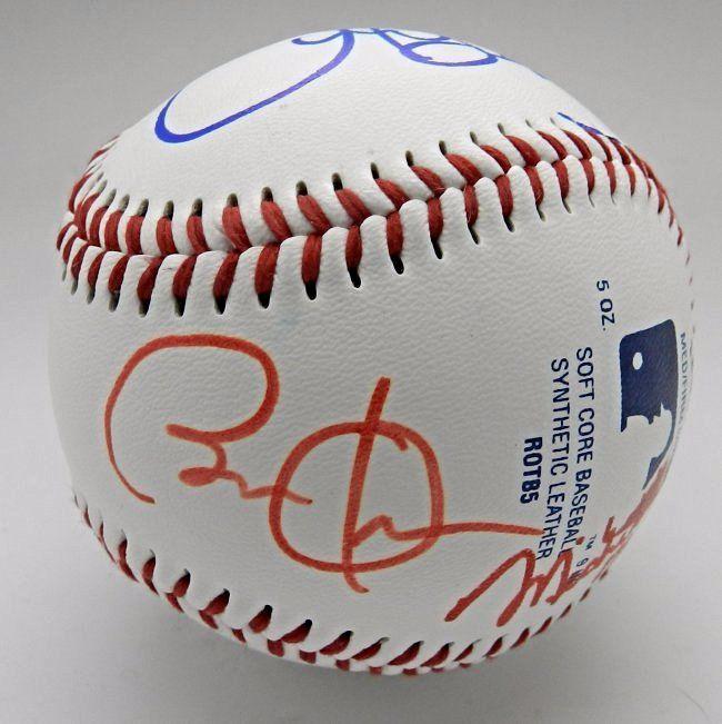 Obama, Biden and Trudeau Signed Baseball