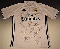 Real Madrid Soccer Jersey Signed