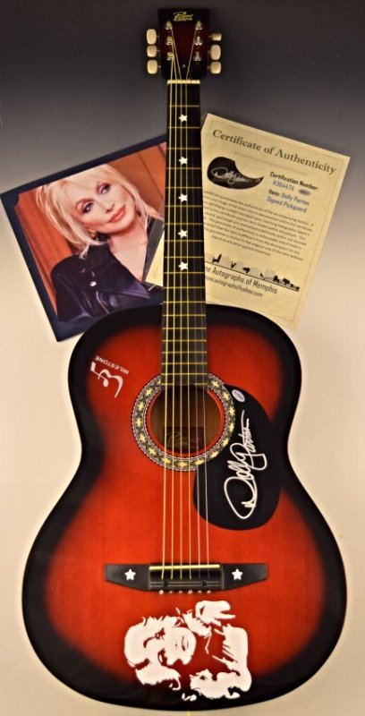 Dolly Parton Signed Guitar