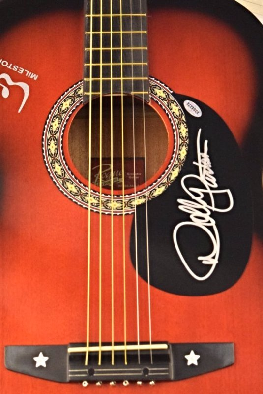 Dolly Parton Signed Guitar - 2
