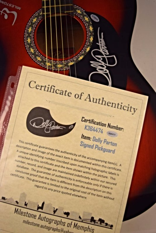 Dolly Parton Signed Guitar - 3