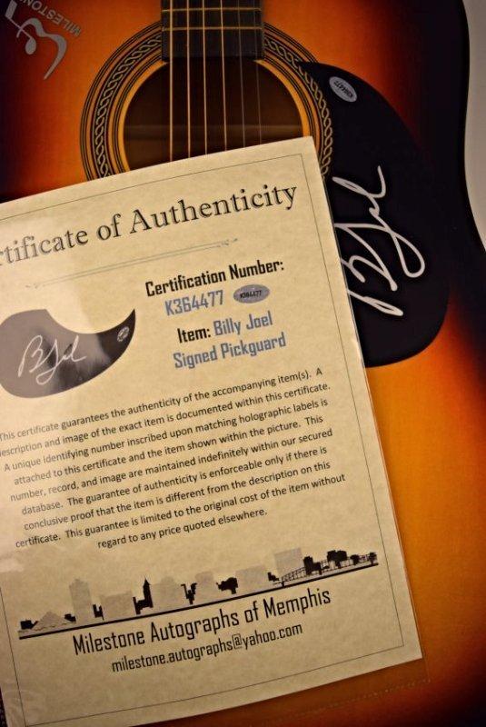 Billy Joel Signed Guitar - 3
