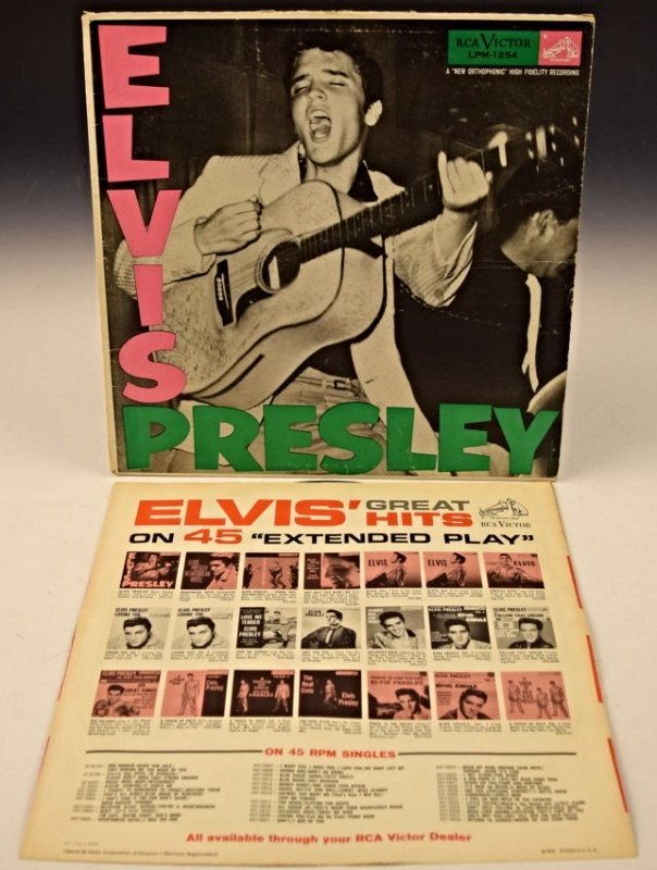 Elvis Presley Signed Album Cover