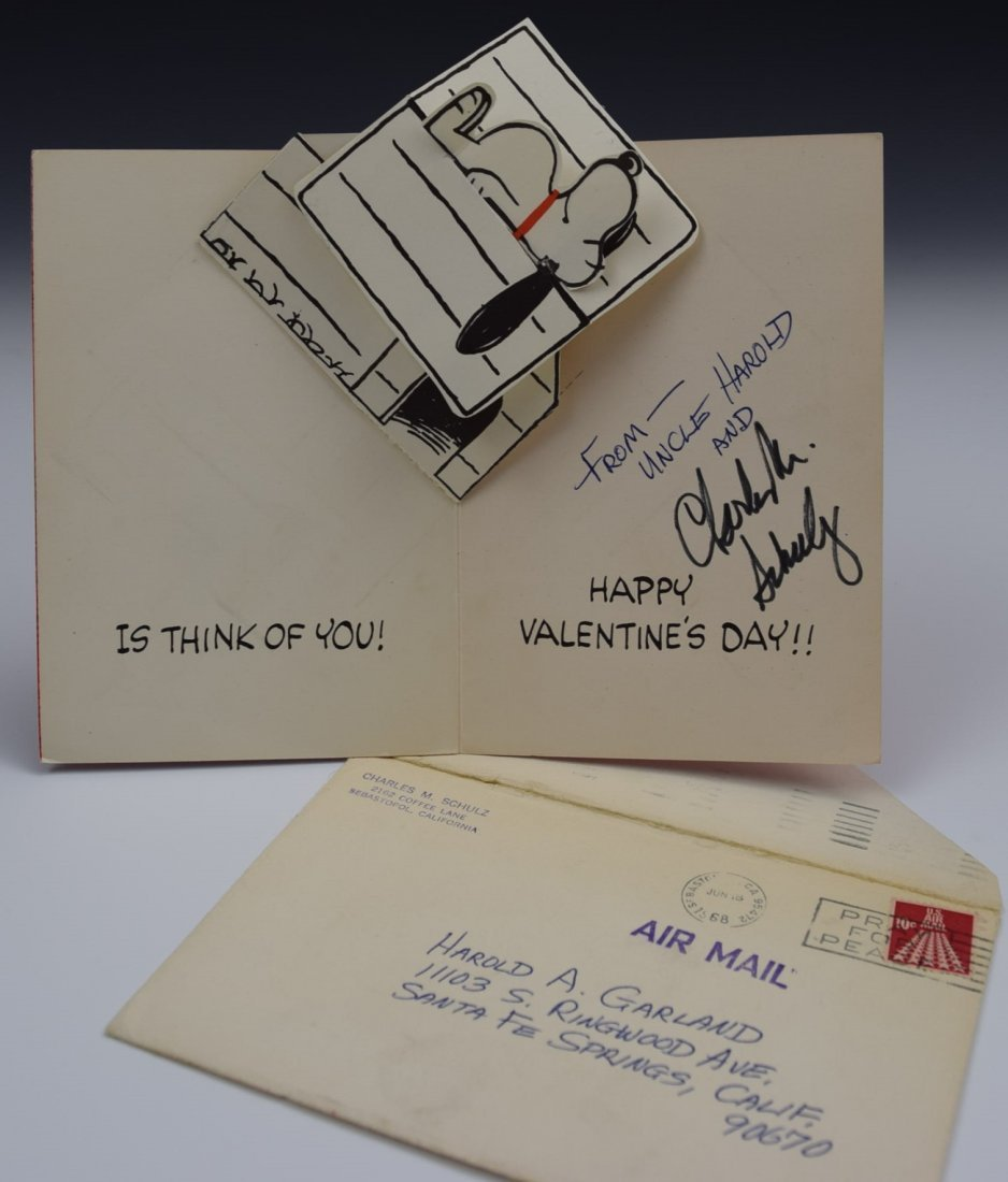 Charles Schulz Signed Birthday Card