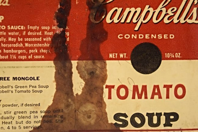 Andy Warhol Signed Soup Can Label - 2