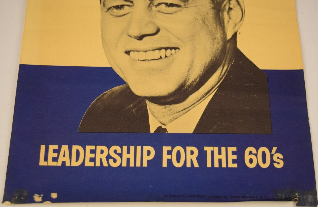 John F. Kennedy Campaign Poster - 3