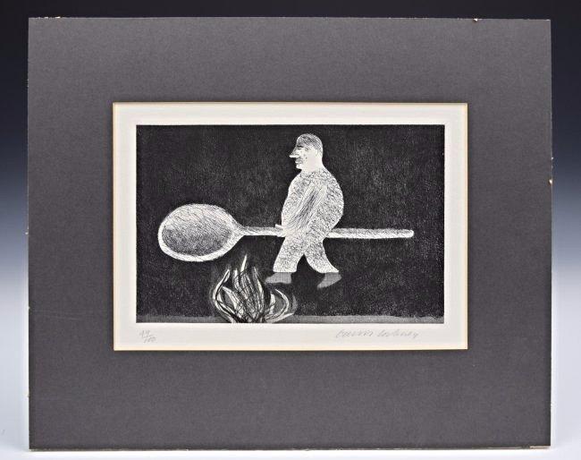 David Hockney Signed/Numbered Etching