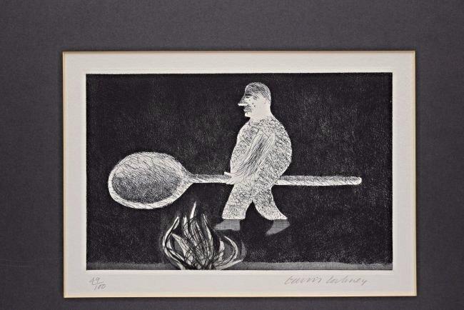 David Hockney Signed/Numbered Etching - 2
