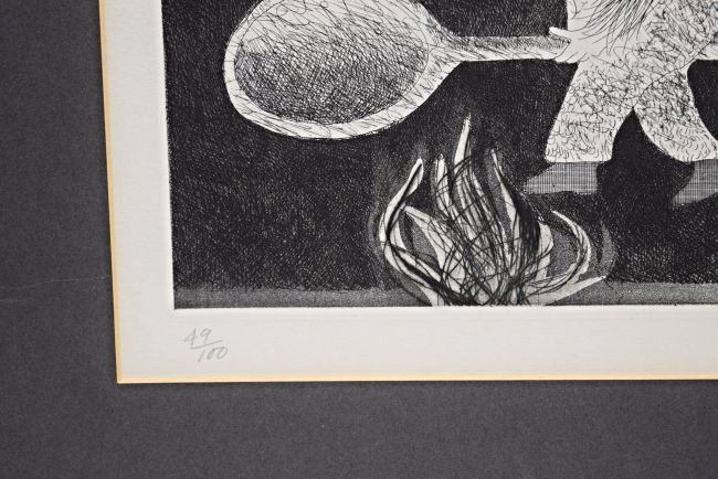 David Hockney Signed/Numbered Etching - 4