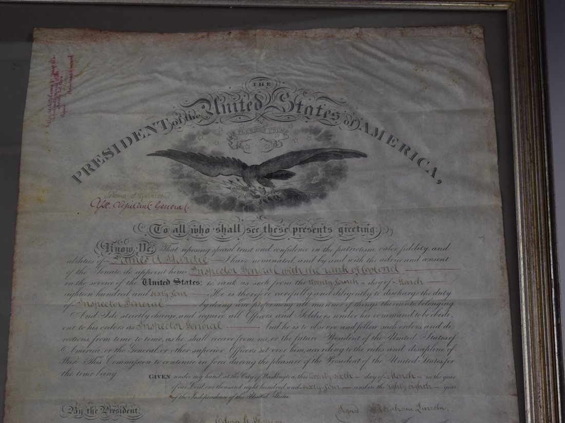 Abraham Lincoln Signed Document - 3