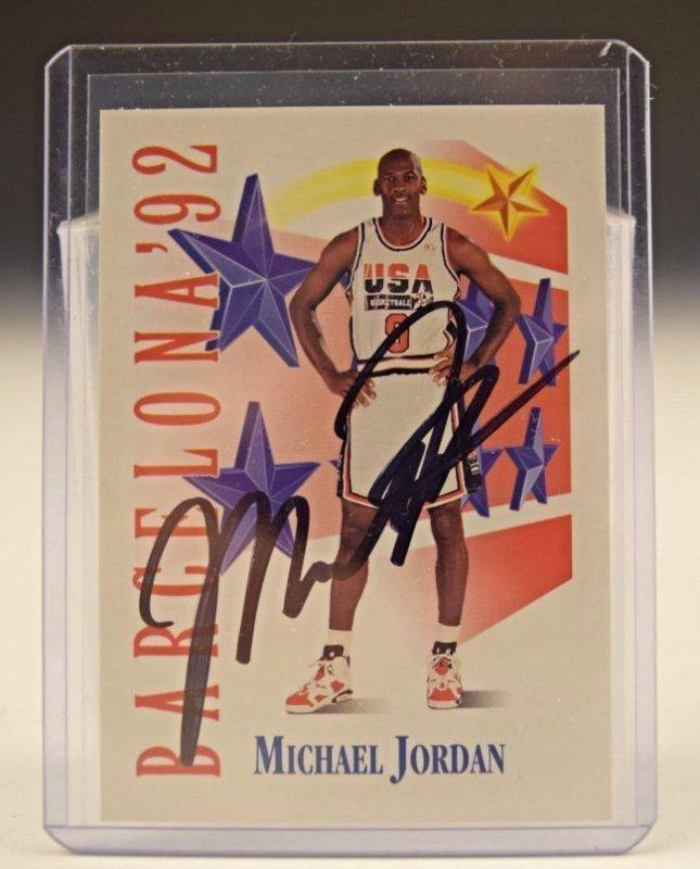 Michael Jordan Signed Skybox Card
