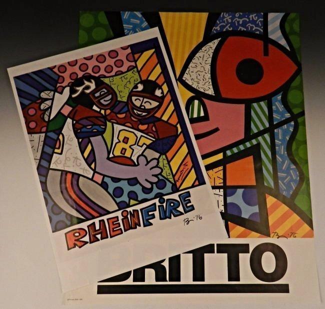 Romero Britto Signed Posters