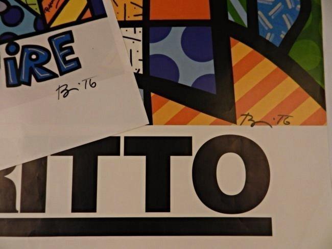Romero Britto Signed Posters - 3