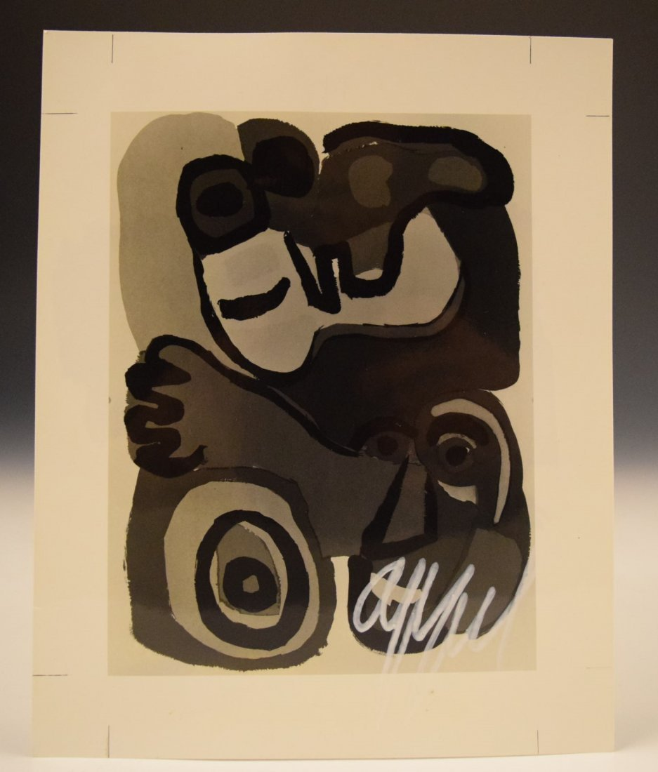 Karel Appel Signed Photograph - 2