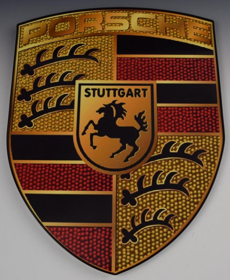 Porsche Emblem Sign