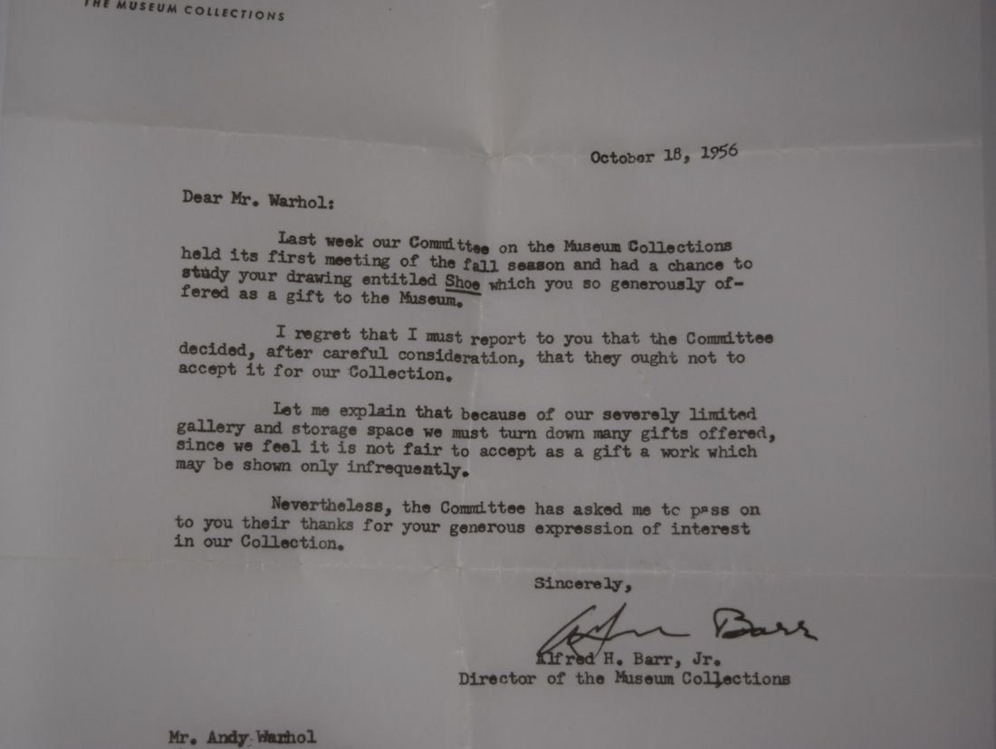 Andy Warhol Rejection Letter - 2