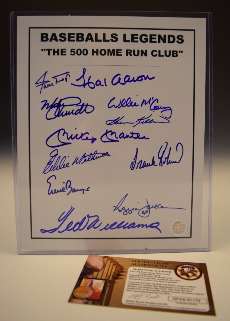 500 Home Run Club Signed Photograph
