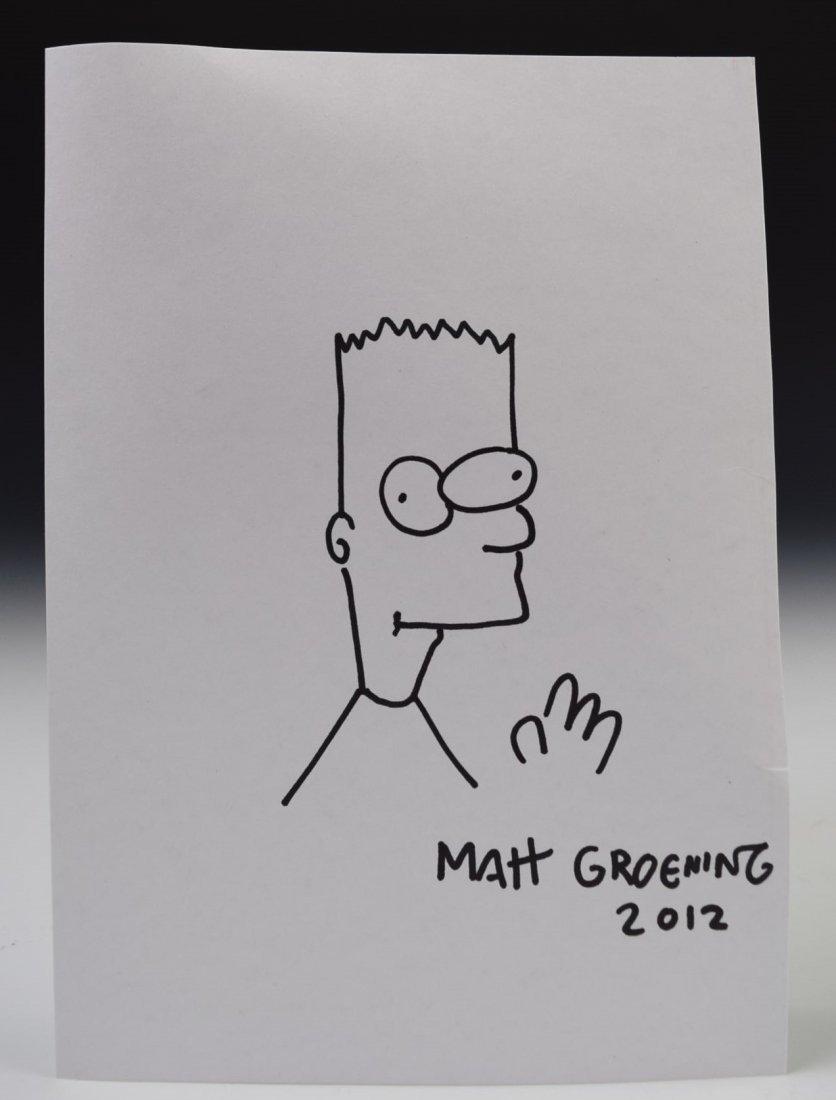 Matt Groening Drawing Signed